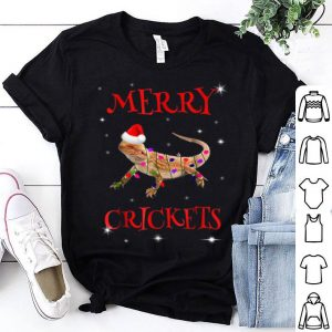 Awesome Bearded Dragon Christmas Merry Crickets Gift shirt