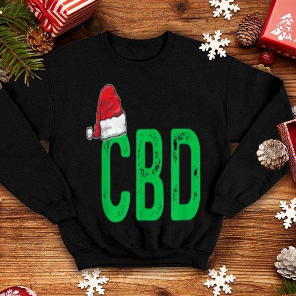 Awesome CBD Women Men Christmas Gift Santa Hat CBD Oil sweater