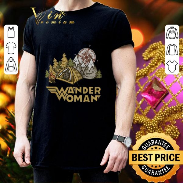 Awesome Camping Wander Woman compass shirt