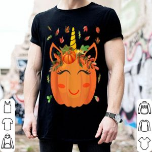 Awesome Cute Unicorn Pumpkin for Kids Halloween Thanksgiving shirt