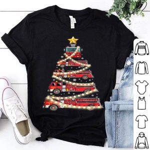 Awesome Firefighter Truck Christmas Tree Tee Funny Christmas Gift shirt