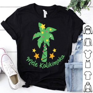 Awesome Mele Kalikimaka laau pama - Palm Tree Hawaiian Christmas shirt