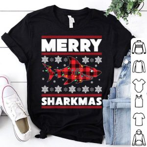 Awesome Merry Sharkmas Christmas Shark Lover Funny Xmas Holiday Gift shirt