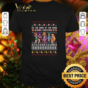 Awesome Sailor Moon In The Name Of The Moon Merry Christmas shirt