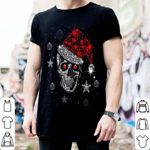 Awesome Skull Diamond with Santa Hat Gift Christmas Pajama Xmas Idea shirt