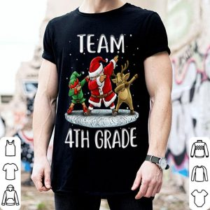 Awesome Team 4th Grade Santa Elf And Reindeer Dabbing Kids Christmas sweater