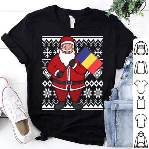 Awesome Ugly Christmas Romania Flag Santa Romanian Gift Idea shirt