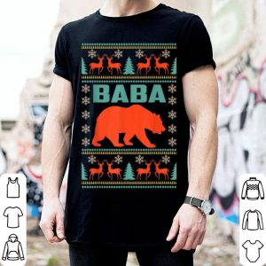 Beautiful Baba Bear Christmas Matching Family Ugly Plaid Gift shirt
