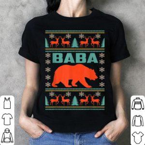 Beautiful Baba Bear Christmas Matching Family Ugly Plaid Gift shirt