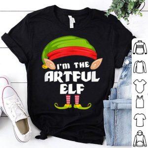 Beautiful Funny Artful Elf Matching Family Group PJ Christmas shirt