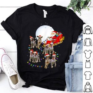 Beautiful German Shorthaired Pointer Christmas Reindeer Lights Gifts shirt