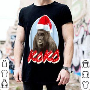 Beautiful Koko Gorilla Wearing Xmas Hat shirt