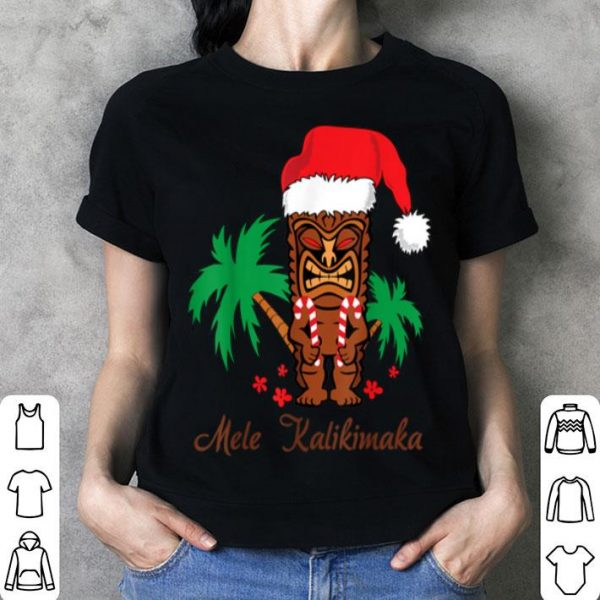 Beautiful Mele Kalikimaka Merry Christmas Hawaiian Tiki shirt