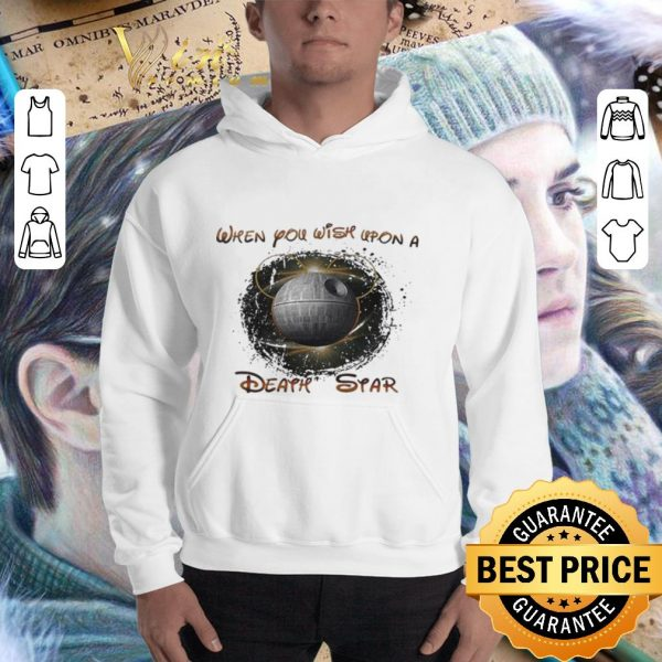 Best Disney Mickey Mouse when you wish upon a Death Star Star Wars shirt