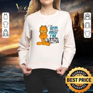 Best Garfield i'm right you're wrong i'm dad shirt