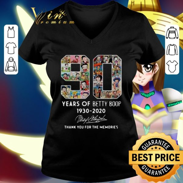 Funny 90 years Betty Boop 1930 2020 thank you for the memories shirt
