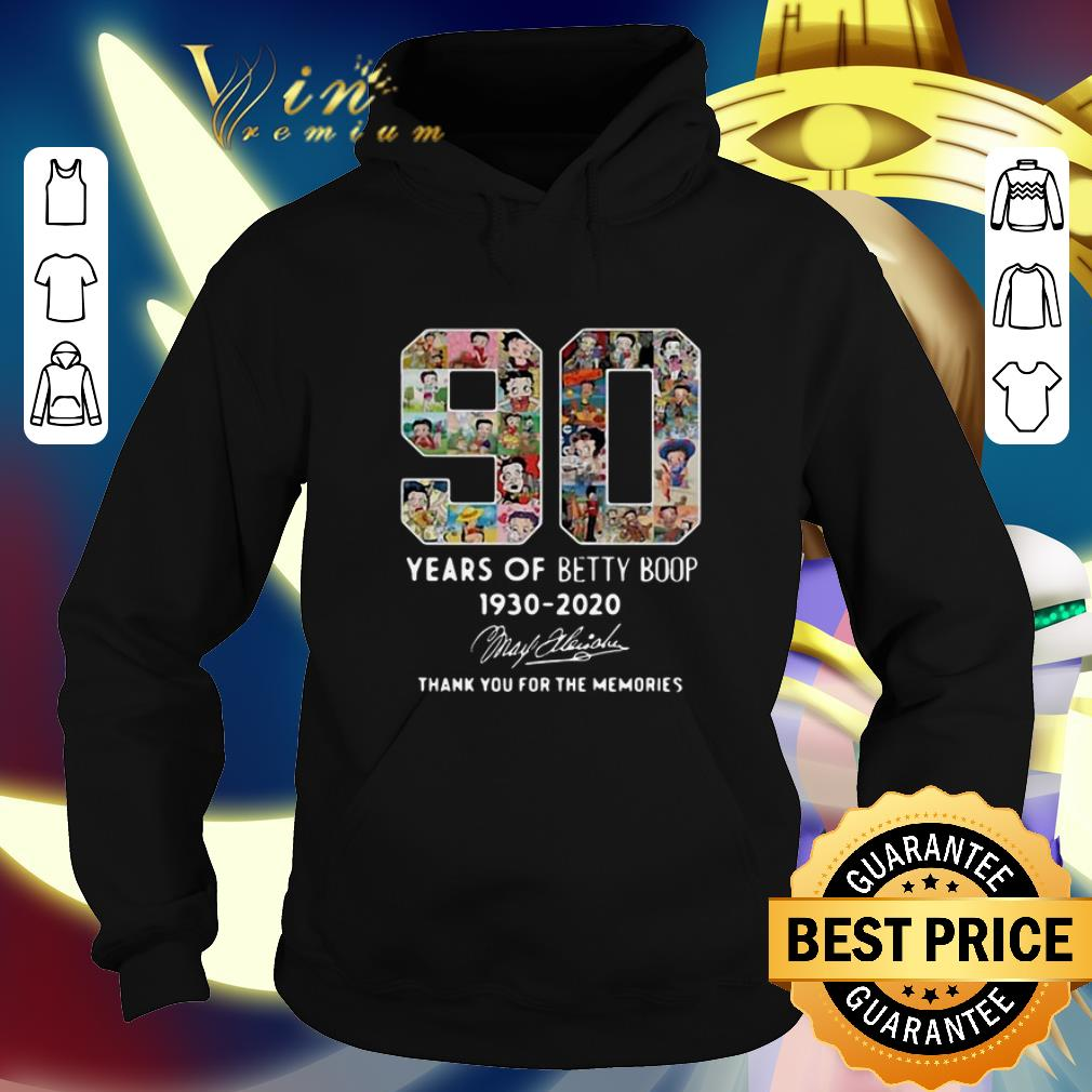 Funny 90 years Betty Boop 1930 2020 thank you for the memories shirt 4 - Funny 90 years Betty Boop 1930 2020 thank you for the memories shirt