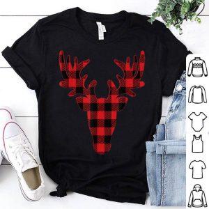 Hot Christmas, Christmas Buffalo Plaid Reindeer shirt