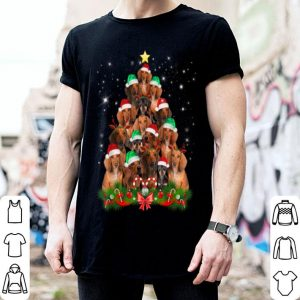 Hot Christmas Dachshund tree Funny Pajamas Xmas shirt