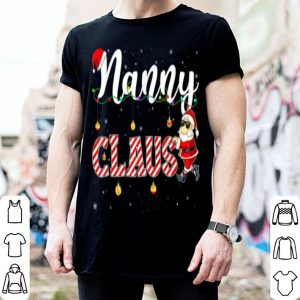 Hot Cute Christmas Nanny Santa Hat Gift Matching Family Xmas shirt