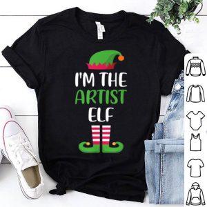 Hot I'm The Artist Elf Matching Family Group Christmas shirt