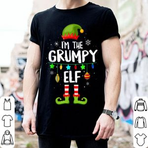 Hot I'm The Grumpy Elf Matching Family Christmas Group Gift shirt