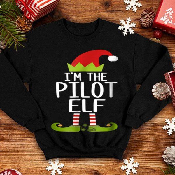 Hot I'm The Pilot Elf Christmas Family Elf Costume shirt