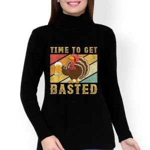 Hot Time To Get Basted Vintage Beer Thanksgiving Turkey Drinking shirt