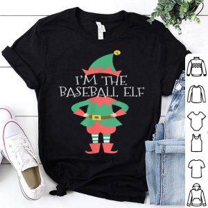Nice Christmas For Family I'm The Baseball Elf shirt
