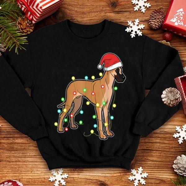 Nice Christmas Lights Great Dane Dog Lover Funny Xmas Gift shirt