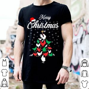 Nice Christmas Tree Merry Christmas Chicken Lover Gift shirt