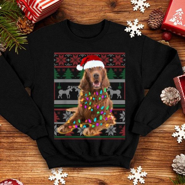 Nice Irish Setter Ugly Sweater Christmas Gift shirt