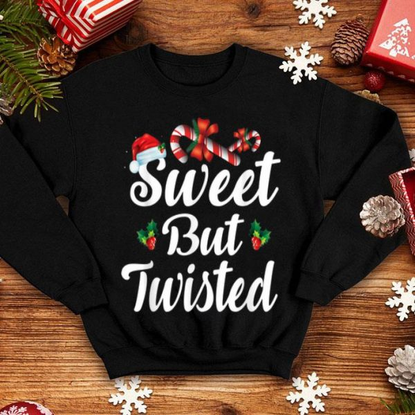 Nice Sweet But Twisted Christmas Candy Canes Tee Xmas Holidays shirt