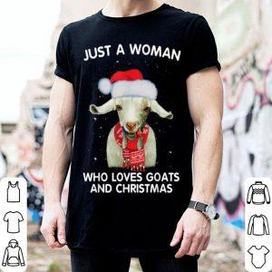 Nice Ugly Christmas a Woman who loves goats and Xmas shirt