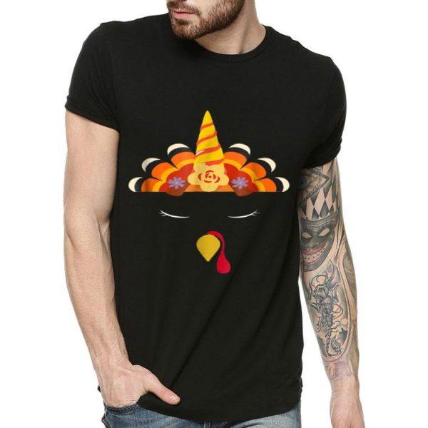 Nice Unicorn Turkey Face ThanksGiving Funny Turkey shirt