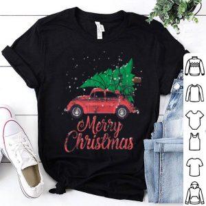 Nice Vintage Slug Bug Christmas - Xmas Tree on Car shirt