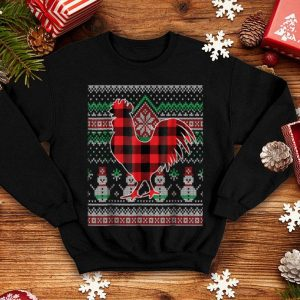 Official Chicken Red Plaid Ugly Christmas Sweater Funny Holiday shirt