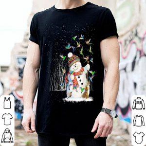 Official Hummingbird Snowman Merry Christmas Tee Hummingbird Lovers shirt