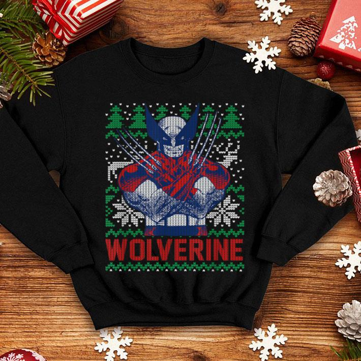 Official Marvel X Men Wolverine Christmas Tree Ugly Sweater Shirt Hoodie Sweater Longsleeve T Shirt