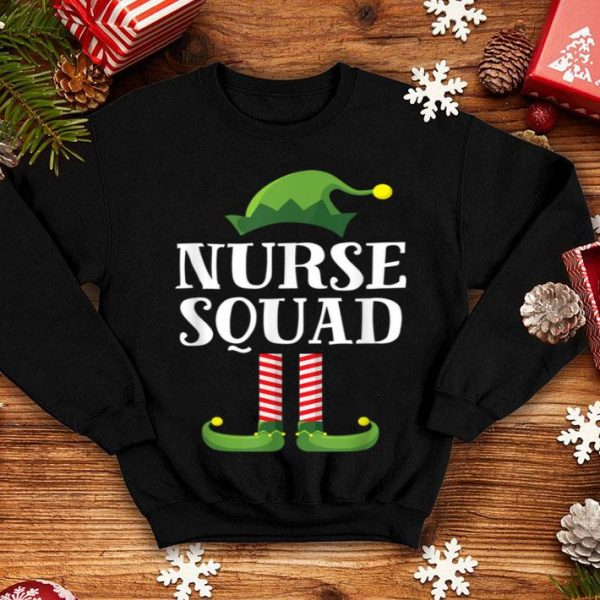 Official Nurse Squad Elf Matching Group Christmas Family Party Pajama shirt