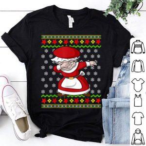 Original Dabbing Mrs Claus Ugly Christmas Pattern Girl Women Gift shirt