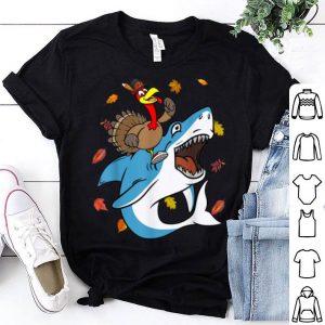 Original Dabbing Turkey Riding Shark Thanksgiving Christmas Gift shirt