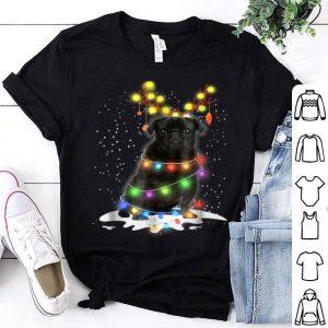 Premium Black Pug Blinker - Nice Dog Christmas shirt