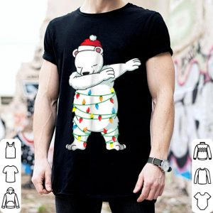 Premium Dabbing Polar Bear Funny Christmas Dab Dabbing shirt