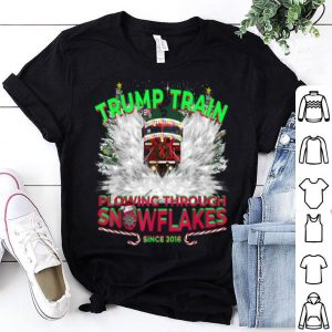 Premium Don a Trump Train to Plow Snowflakes this Christmas! shirt