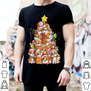 Premium English Bulldog Christmas Xmas Tree Dog Boys Girls Tee shirt
