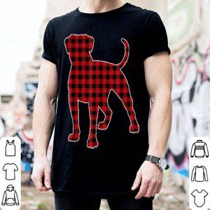 Pretty American Bulldog Christmas Dog Buffalo Plaid shirt