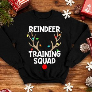 Pretty Christmas Running Reindeer Training Squad Matching 5k shirt