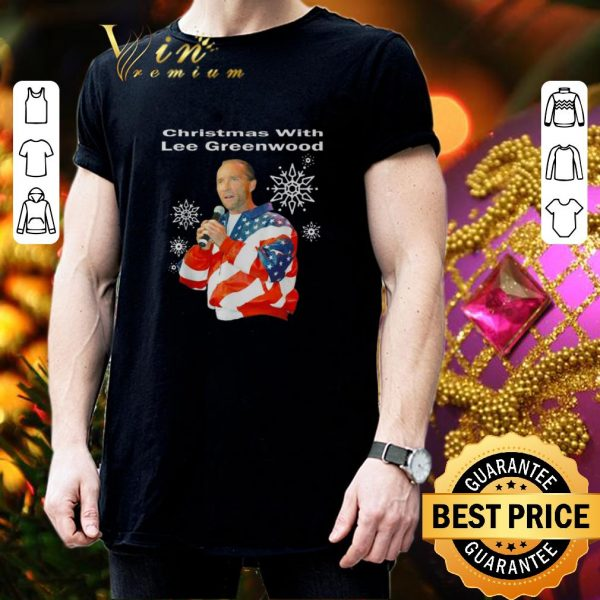 Pretty Christmas with Lee Greenwood American flag shirt