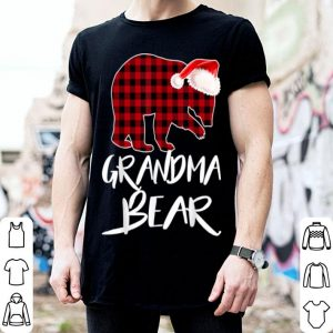 Pretty Grandma BEAR Red Plaid Christmas Pajama Matching Family Gift shirt